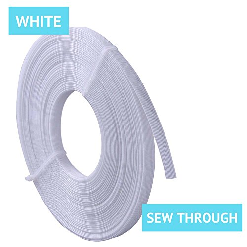 Polyester Boning for Sewing, 1/2 Inch x 10 Yard Sew Through MaxPro Boning for Corsets, Nursing Caps, Bridal Gowns, Evening Gowns, Lingerie, Swimwear, Hats, Handbags, Plush Toys and More-White - Nylon Corsets