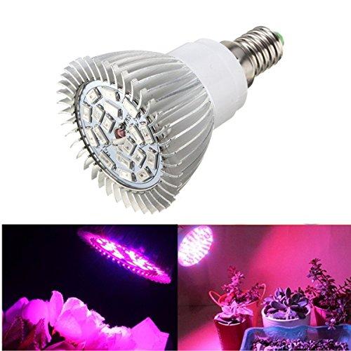 SOLMORE E14 LED Pflanzenlampe Pflanzenleuchte Pflanzen Lampen Grow Licht Wachsen Lichter Pflanzenlicht Leuchtmittel Licht Gewächshaus 8W