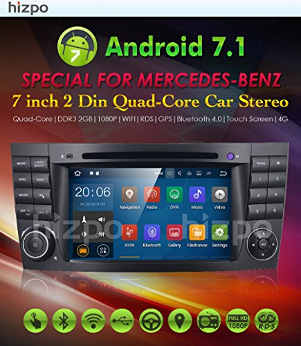 hizpo Android 7.1 Car Audio Estéreo for Mercedes Benz G Class E W211 W463 CLK CLS 1024 * 600 Reproductor de DVD Double Din Head Unit Support GPS Sat Nav DAB ...