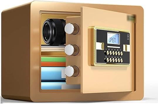 QFFL Caja fuerte,Safe Caja Fuerte, Caja Fuerte con Contraseña Pequeño Hogar de Acero Electrónica Digital Caja Fuerte con Función de Alarma de Contraseña Caja de Almacenamiento Joyería Comercial Valio: Amazon.es: Bricolaje y