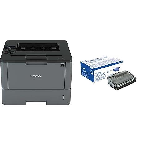 Brother HL-L5000D - Impresora láser profesional monocromo (250 hojas, 40 ppm, USB 2.0, doble cara automática) + Brother TN3430 - Tóner negro (3.000 ...
