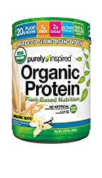 Purely Inspired Organic Protein Powder, Plant Based Healthy Protein, French Vanilla,1.5 Pounds