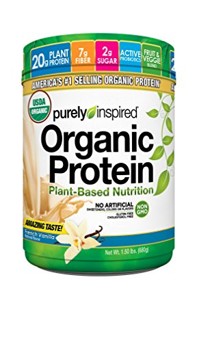 Purely Inspired Organic Protein Powder, 100% Plant Based Healthy Protein, French Vanilla,1.5 pounds by Purely Inspired