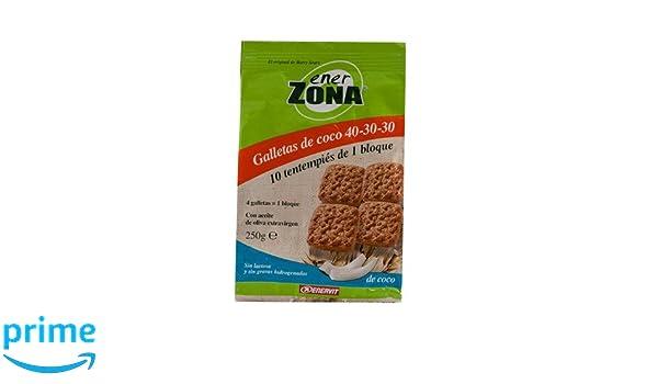 ENERZONA GALLETAS 40-30-30 COCO 250 G: Amazon.es: Salud y cuidado personal
