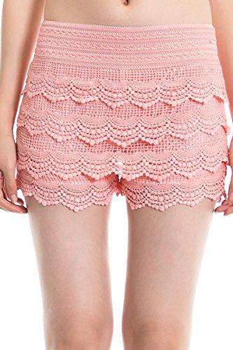 Simlu Lace Shorts Fitted, Womens Crochet Shorts, Short Shorts, Scalloped Shorts