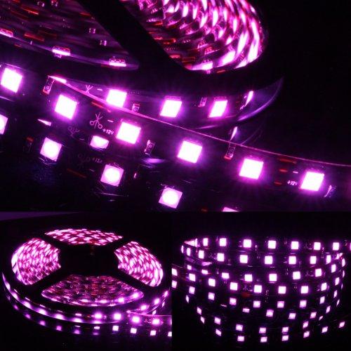 5m Meter 16 ft Feet Roll 5050 SMD LED 300 LEDs Waterproof Flexible Light Strip - - Light Three Optix