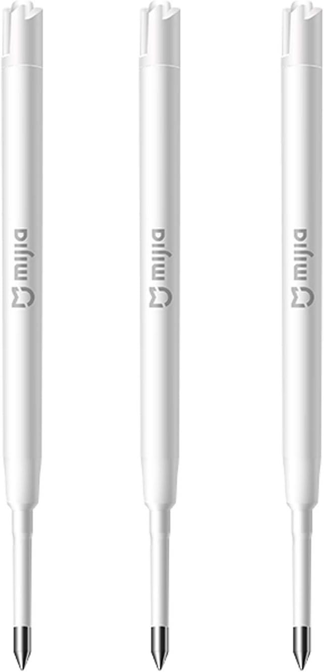 Mijia Plumas de 0,5 mm para recambio de plumas Mijia Metal Signature Relleno de plumas lisas para recambio de Suiza (Color: blanco)