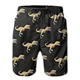 Men's Resultado Dino-Mite Quick-Dry Lightweight Fashion Board Shorts Swim Trunks XL
