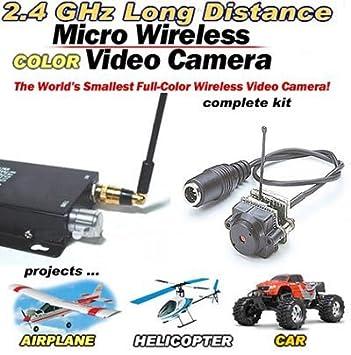 Amazon.com: Mini Wireless Micro-Spy Video Camera 2.4GHz (Complete ...