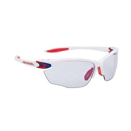 ALPINA Gafas de Sol Twist Four VLM + Marco Blanco/Azul/Rojo ...
