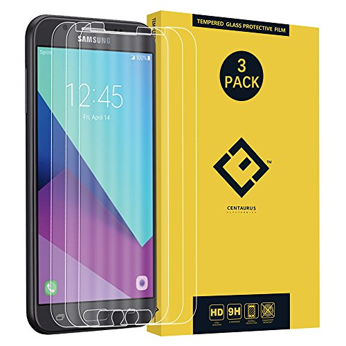 CENTAURUS Compatible with Screen Protector Samsung J7 2017,(3 Pack) Ultra-Thin Clear 9H Tempered Glass Protective Film for Galaxy J7 Sky Pro/J7 Perx/SM-J727/Halo/J7 Prime J727T J727U /SM-J727T1/J727A