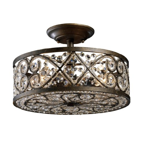 Elk 11286/4 Amherst 4-Light Semi-Flush In Antique Bronze from ELK