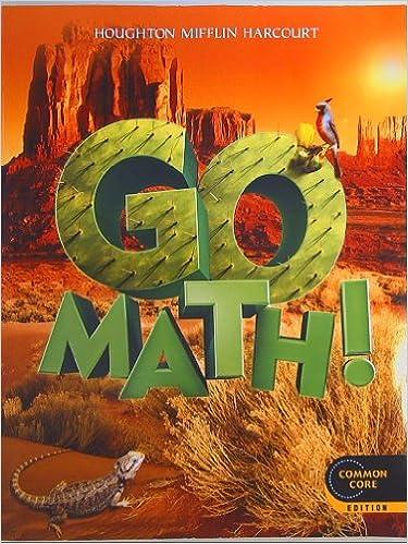 GO MATH Grade 5 Common Core Edition Isbn