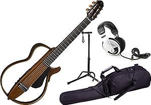 Yamaha SLG200N NT Nylon Silent Guitar 2015 New Model (Natural) w/ Gig Bag, Stand, and Headphones by Yamaha