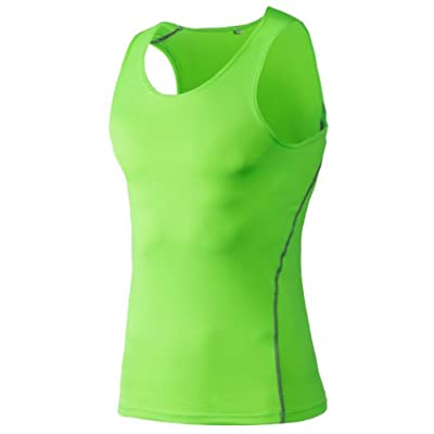 Kingswell Undershirts Running Vest Tank Tops Shirt Men's Cool Dry Compression Baselayer Sleeveless