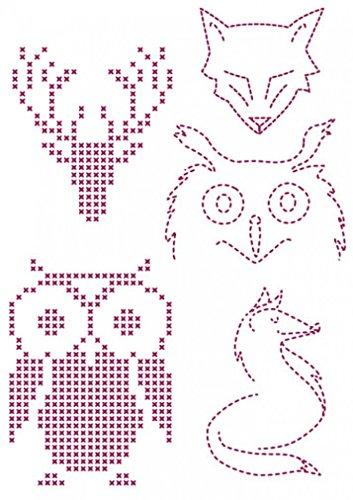 DMC Custom By Me Embroidery Transfer Magic Sheet Owls (Dmc Transfer Embroidery)