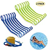 #10: Mioshor Water Hammock Float Pool Lounger Inflatable Raft for Adults 2 Pack (Blue and Green)