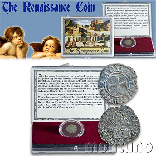 (THE RENAISSANCE COIN - Medieval European Coin in Clear Display Box with Story Card & Certificate of Authenticity - Venice Italy Italian Antique Coin)