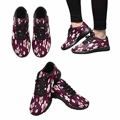 Scarpa Da Jogging Leggera Da Donna Running Running Leggera Easy Go Walking Comfort Sportivo Scarpe Da Ginnastica Sakura, Fiore Floreale Giapponese Multi 1