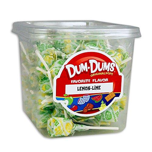 Dum Dums - Lemon Lime - 1 Lb Tub