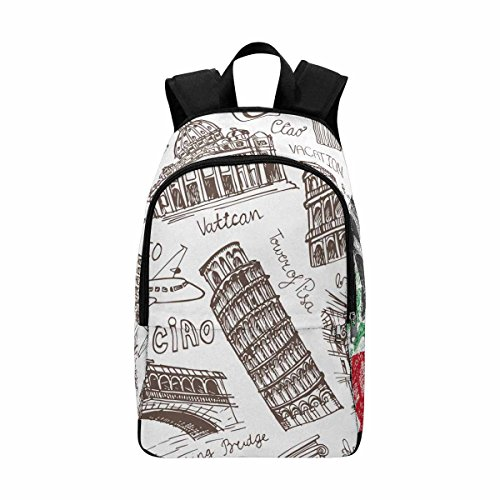 InterestPrint Italy Famous Landmark Laptop Backpack, Travel Computer Bag for Women & Men by InterestPrint
