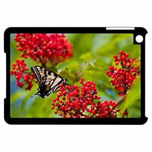 Customized Back Cover Case For iPad Mini Hardshell Case, Black Back Cover Design Butterfly Personalized Unique Case For iPad Mini
