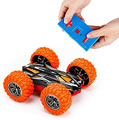 Mslan Cyclone Mini Remote Control Car For Kids Double Sided Fast Off Road Stunt Mini Rc Cars For Boys And Girls Rc Flip Car Amazon Com Au Toys Games