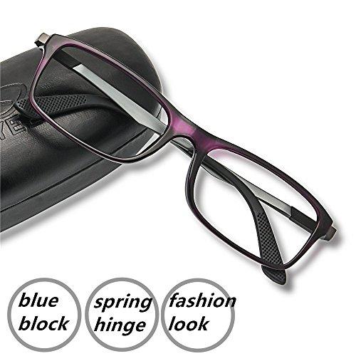 Computer Reading Glasses 2.0 Violet - 2017 New EyeYee Blu...