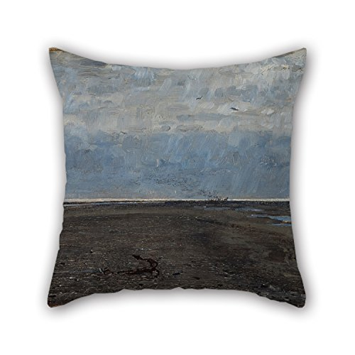 [Oil Painting Johan Krouthén - The Skaw Spit. Skagen Throw Pillow Covers 18 X 18 Inches / 45 By 45 Cm For Gf,bar Seat,indoor,adults,christmas,play Room With 2] (Funny Costume For 2 Guys)