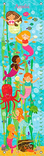 Play Personalized Growth Chart - Mermaid Mingle and Play by Liza Lewis - Personalized Growth Charts, 12