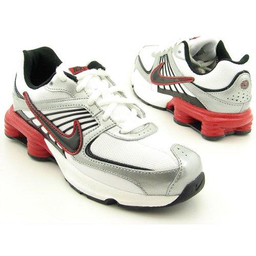 check out b41c8 9861c Nike Shox Turbo 8 Grade School Youth Size 7 Running Sneakers Metallic  Silver Red Black 344933 101  Amazon.ca  Shoes   Handbags