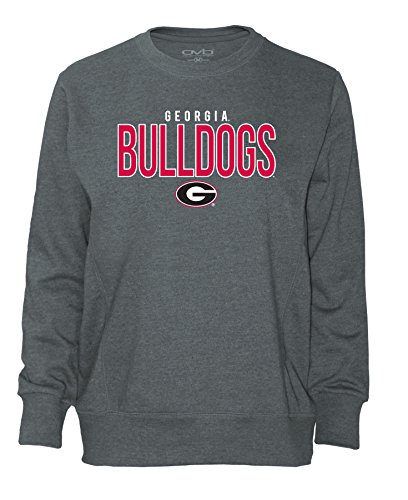 Georgia Bulldogs Apparel (NCAA Georgia Bulldogs Women's Long Sleeve French Terry Polo Shirt, Dark Heather, X-Large)
