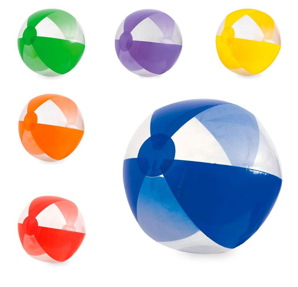 Lote 12 Unidades. Balón Hinchable gajos Colores y Transparentes ...