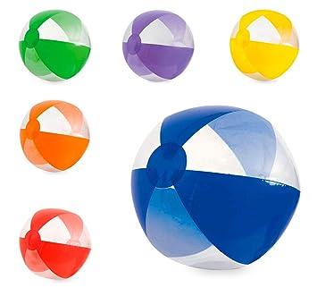 Lote 12 Unidades. Balón Hinchable gajos Colores y ...