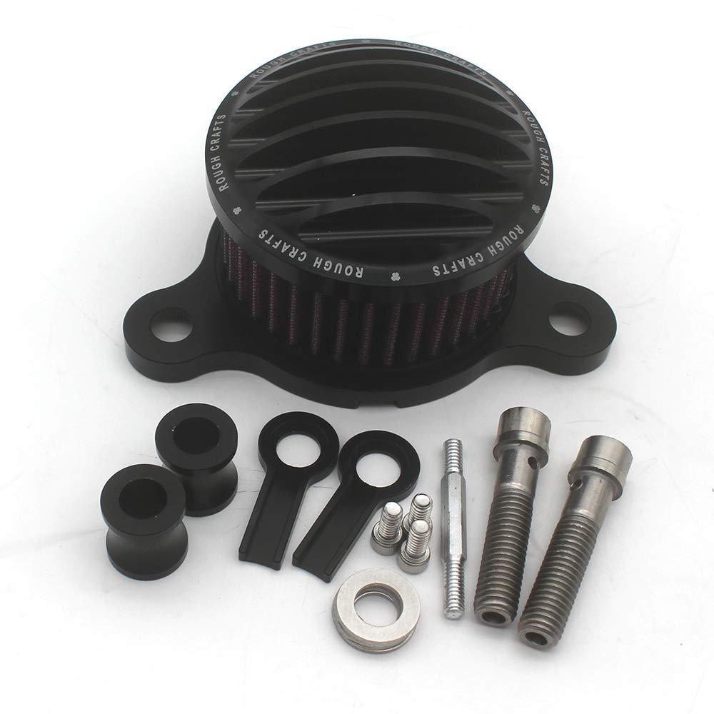 KIPA Sport Air Cleaner Intake Filter System Kit For Harley Davidson Sportster XL883 XL883N XL883R XL883P XL1200 XL1200L XL1200X Iron 883 Forty Eight XL1200X 2004-2016 Aluminum CNC Machined Washable by KIPA (Image #2)