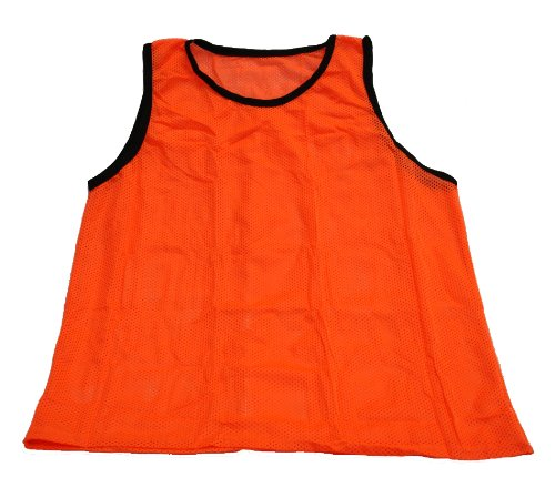 Set of 12 - Big And Tall Workoutz Scrimmage Vests (Orange) Soccer Pinnies Training