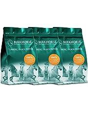BulkHorse Kurkuma + zwarte peper | KURKUMA voor de GEWRICHTSFUNCTIE en SPIJSVERTERING | 100% vrij van toegevoegde suikers | 3000 g
