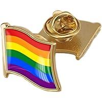 BaronHong Gay & Lesbian Pride Rainbow LGBT LGBTQ Flag Lapel Pins