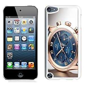 NEW Unique Custom Designed iPod Touch 5 Phone Case With Omega De Ville Swiss Gold Watch_White Phone Case