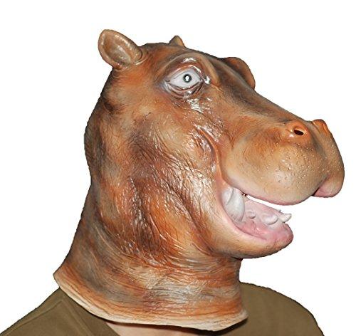 New Style Halloween Hippo/Rhinoceros Latex Mask -