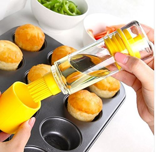 Amazon.com: Express$ Silicone Honey Oil Bottle with Brush for Barbecue Cooking Baking Pancake BBQ Tools Kitchen Accessories Barbacoa Storage Bottles: Home & ...