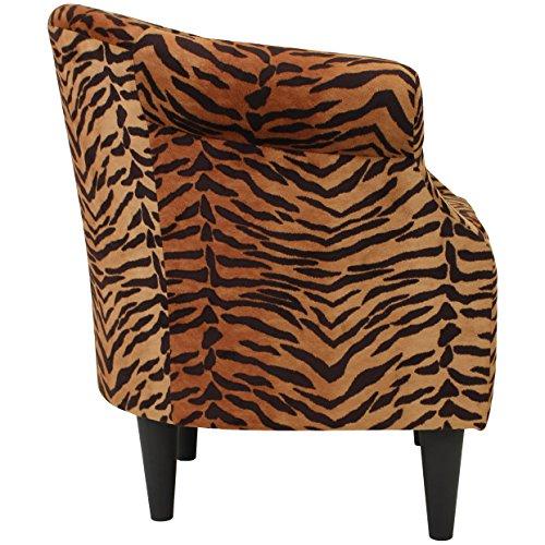 Parker Lane uch-nik-pon1 Safari Club Chair, Tiger Print - 6