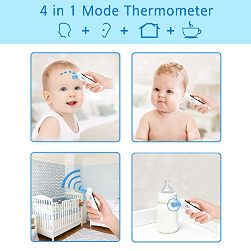 Cumbor Baby Thermometer -Forehead and Ear Thermometer for Fever -Medical Digital Infrared Thermometer for Kid, Infant, Toddler and Adult,hygienic Lens Filters Included,FDA Approved by Cumbor (Image #2)