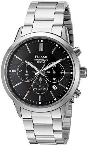 - Pulsar Men's Quartz Stainless Steel Dress Watch (Model: PT3791X)