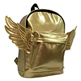 K-Cliffs Woman's Mini Backpack, Kids Daypack, Synthetic Leather Bag, Lady Purse Casual Travel Satchel, Gold