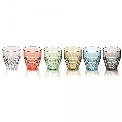 Guzzini Tiffany set 6 bicchieri bassi colori assortiti: Amazon.it ...