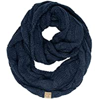 Funky Junque Kids Baby C.C Beanies Matching Cable Knit Winter Infinity Scarf