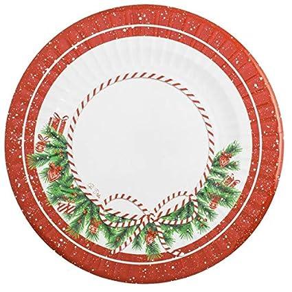 6 Piatti Natalizi Cm 33 In Cartoncino Givi Italia Happy Christmas