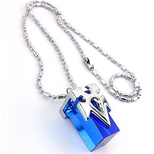 Fabric Mini Pendant (Mini Skater Cosplay Costume Crystal Pendant Necklace)