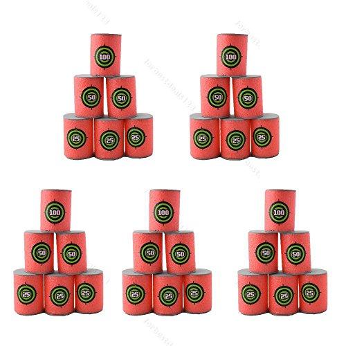Yosoo 30pcs Soft EVA Bullet Target Dart Foam Toy Gun Shoot Dart For N-Strike Blaster Kids Toy, 6Pcs/Set, 5-Set